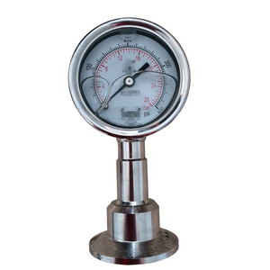 HF Stainless steel 304 sanitary bayonet bezel ring dry or glycerine or silicone oil filable diaphragm pressure gauge