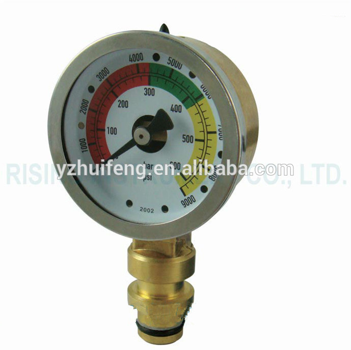 HF From 0 to 600bar Mini Vibration-resistant Pressure Gauge