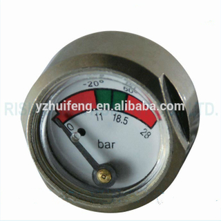 HF Dual Scale 28bar Pressure Gauge for Fire Extinguisher Use