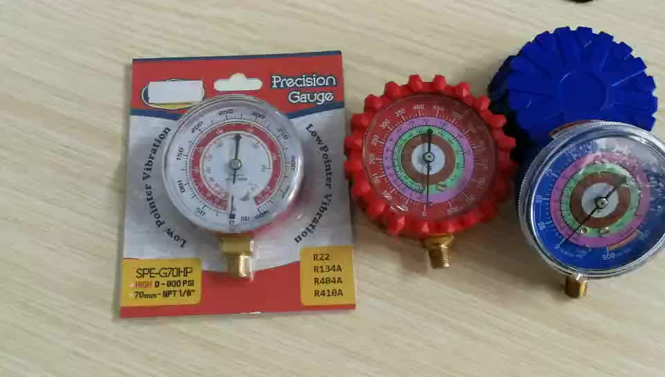 HVAC A/C Refrigeration Manifold Set for R134A R410A R600 pressure gauge