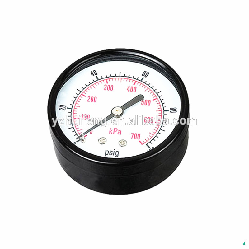 HF Back Connection -0.1-0MPa 60mm Vacuum General Bourdon Tube Water Pressure Meter Test Gauges