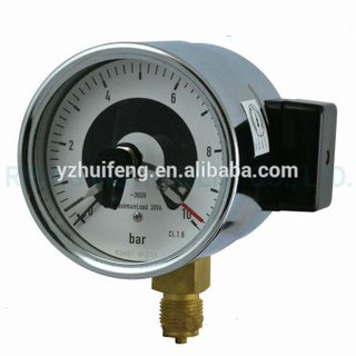HF 100mm Industrial Electric Contaction 600 bar Vacuum Pressure Gauge with Alarm