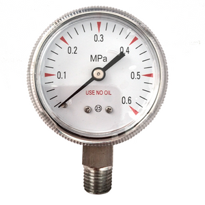 "HF 2"" 50MM use no oil medical Oxygen Acetylene stainless steel removable case Pressure Gauge"