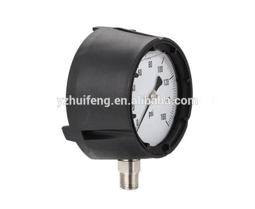 HF 115mm Phenolic Case 0-160psi/bar MONEL Socket Process Pressure Gauge