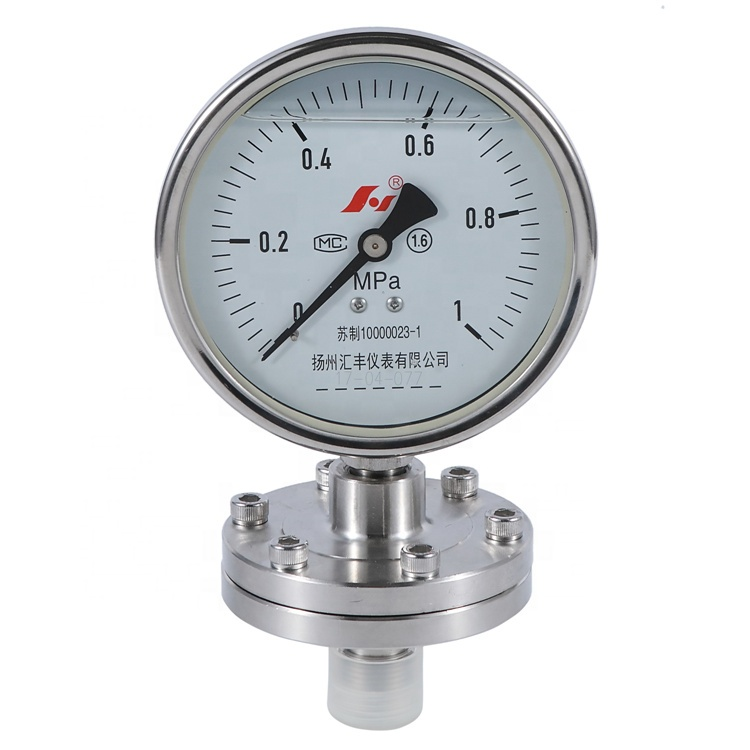HF 350psi 25bar Threaded Diaphragm Seal PN 250 Manometer