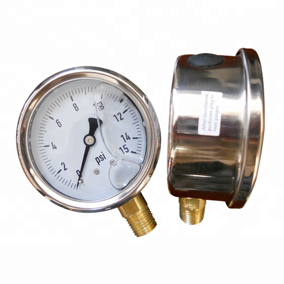 "HF high quality cheap price 2"" 50 mm black steel air compressor 10 bar common manometer"