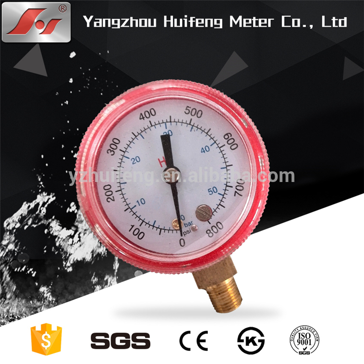 HF high quality 70mm iron case high low refrigerant pressure gauge