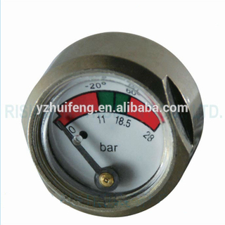 HF Hexagon Shape For Fire Extinguisher 3000psi 23mm Mini Tank Pressure Gauge